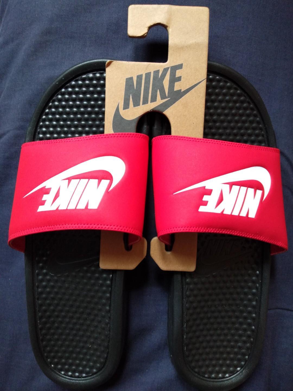 Nike Men JDI Slide Red / Black Slippers