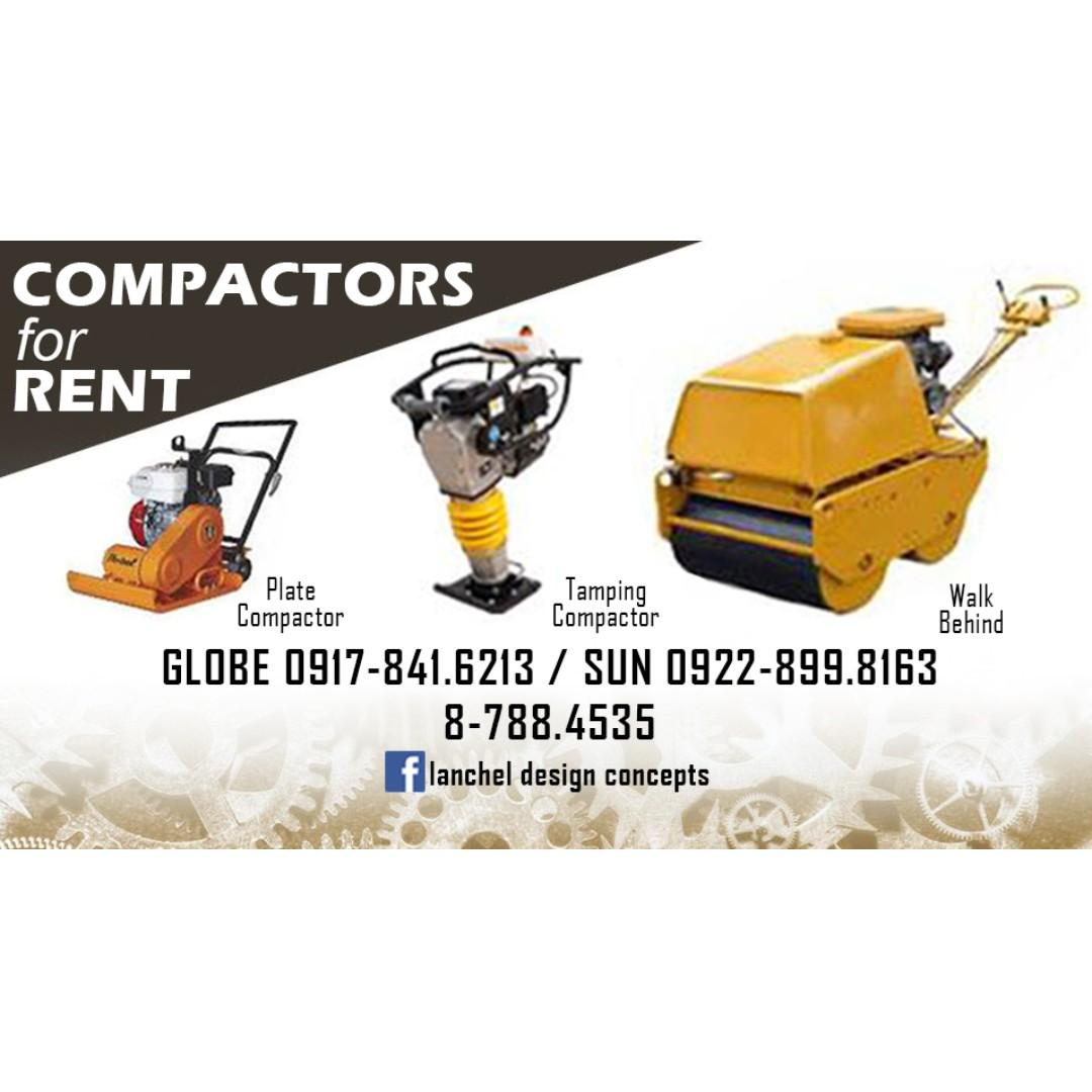 Plate Compactors Tamping Compactors And Walk Behind For Rent Business Services Industrial Equipment Rental On Carousell