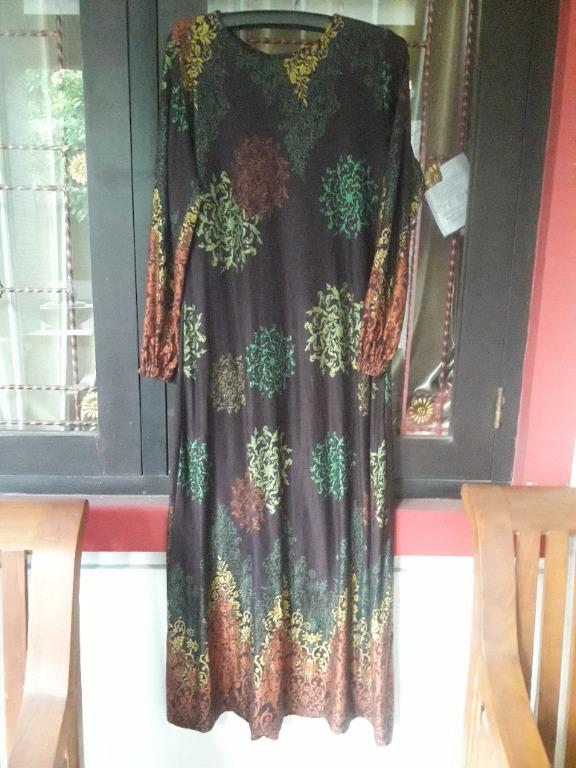 Preloved dress gamis set hijab