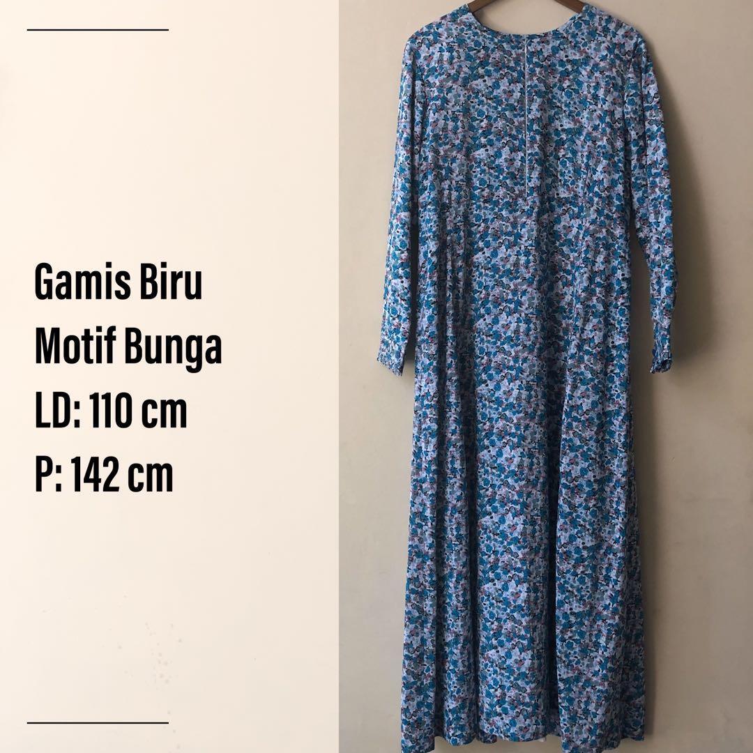 Preloved Gamis Big Size Motif Bunga