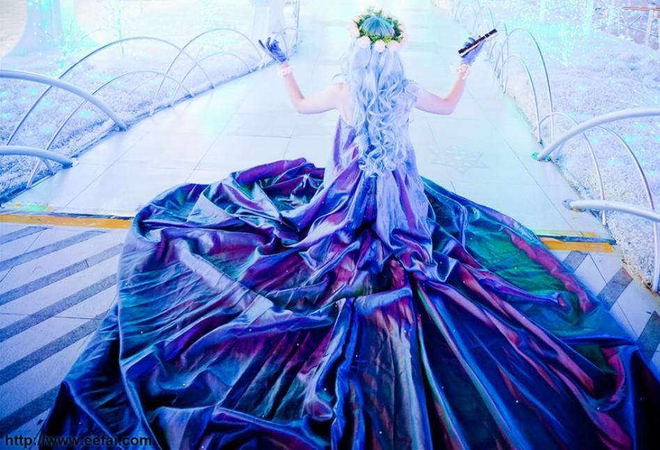 RENT/SALE Macross Frontier Sheryl Nome Diamond Crevasse Gown Cosplay Costume