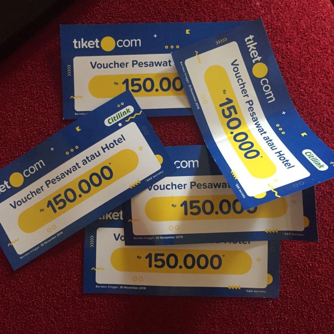 TAKE ALL Voucher hotel/tiket pesawat tiket.com