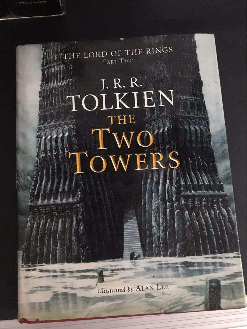 The lord of the rings part 2, the two towers HARDBOUND colored/illustrated