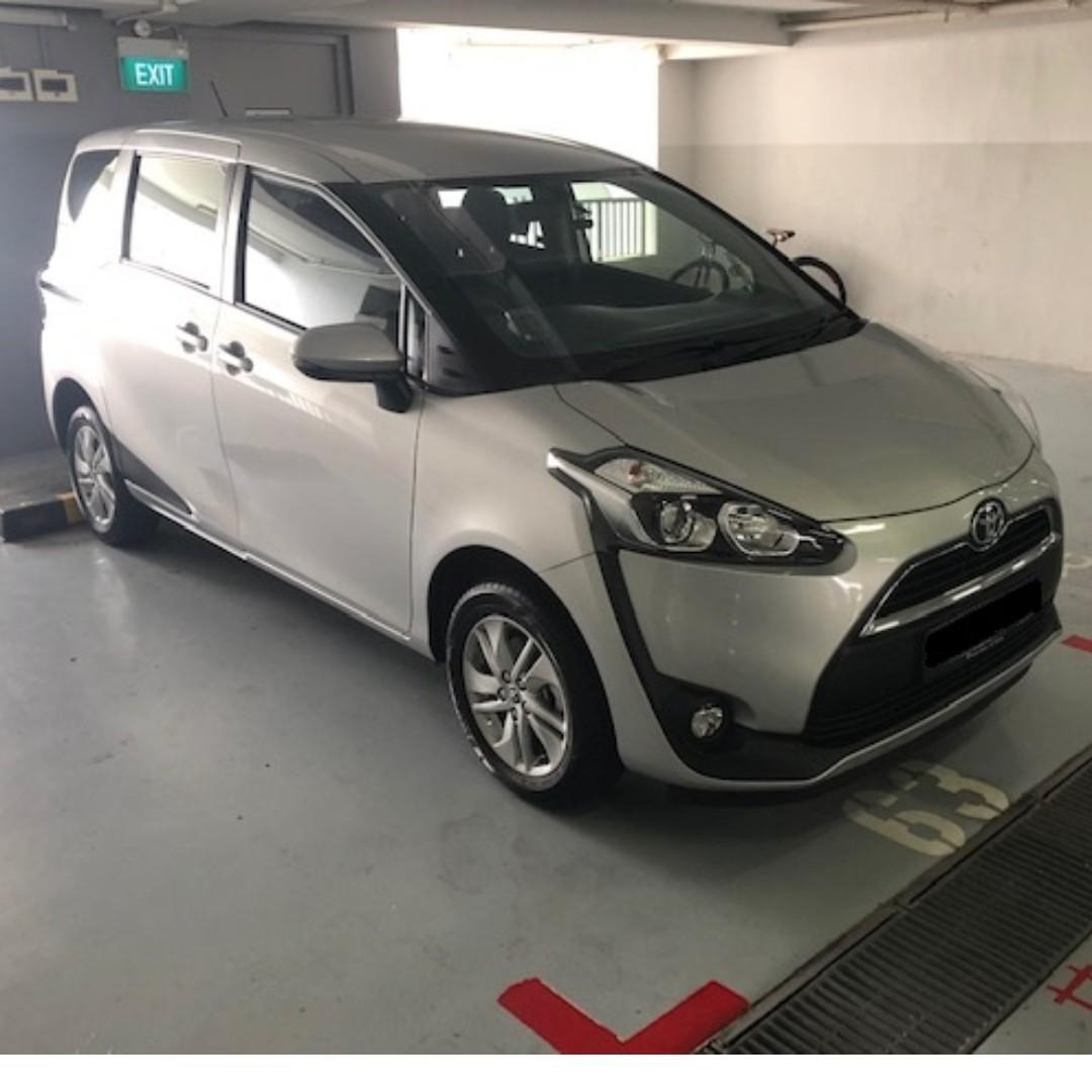 Toyota Sienta 2019 with rental rebate;