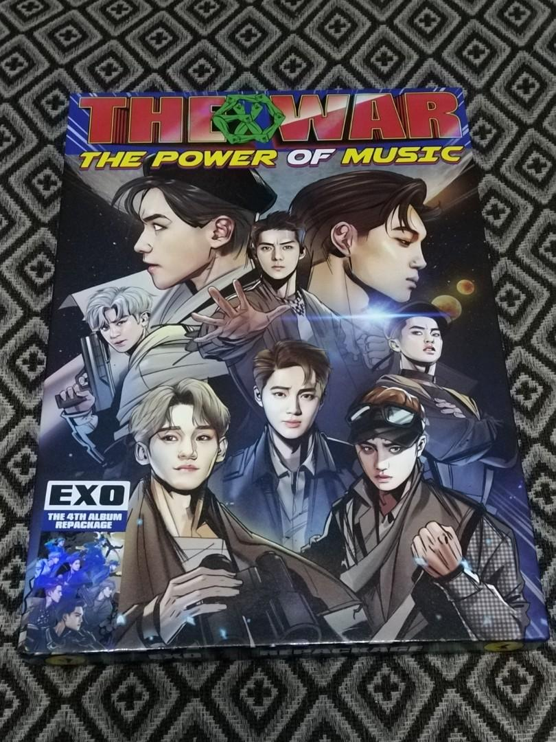 (WTS) EXO THE WAR 'THE POWER OF MUSIC' ALBUM 2017 | Ready stock