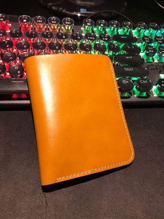 全新 含包裝 真皮革皮夾 焦糖色 wallet brand new