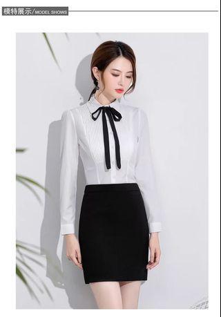 Shih🎀(現貨優惠🎁)純色系OL高腰西裝褲裙