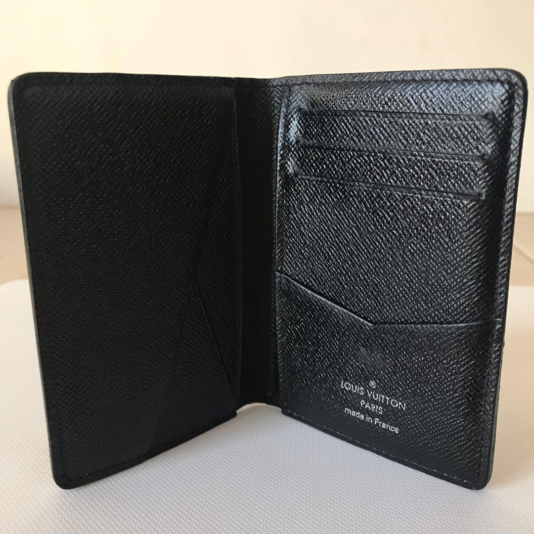 ✨100% Authentic Louis Vuitton Pocket Organiser Wallet Damier Graphite ✨