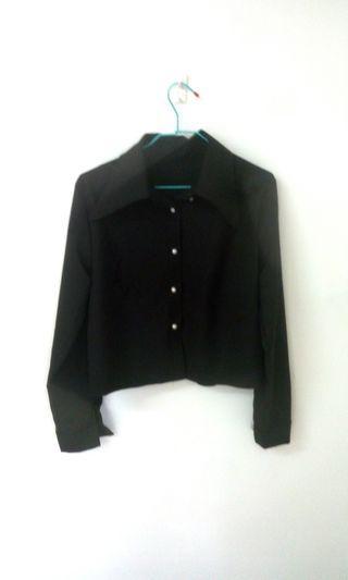 韓系短版襯衫