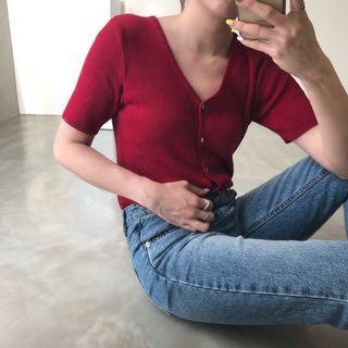 正韓 小蘋果針織短袖 #剁手時尚