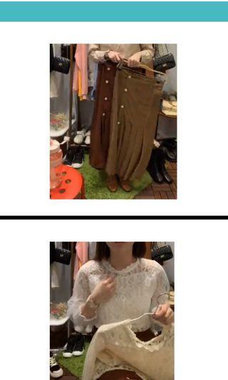 蕾絲上衣+裙子