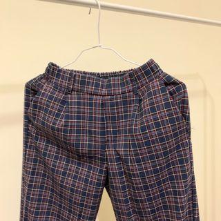 藍色格子褲