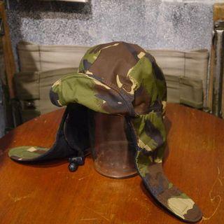 🇬🇧90s 英國陸軍公發DPM迷彩飛行帽 GORE-TEX 軍裝 男女皆可Vintage 歐美帶回古著