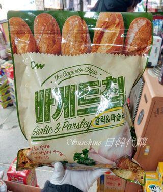 現貨 韓國 CW 法式 香蒜麵包餅乾 巴西里 大蒜麵包餅乾 法式長棍麵包香蒜餅乾 400g