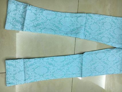 轉賣~韓系褲子蕾絲緹花鉛筆褲子(藍)M