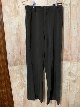 深灰色 厚版西裝褲 腰平放34 全長99