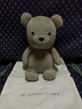 b.yourself cafe 小熊玩偶