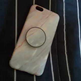 iPhone  6粉色大理石 氣囊支架 手機殼 4.7吋