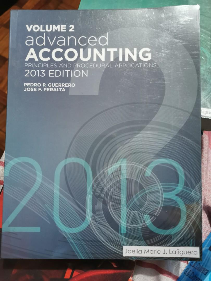 ADVANCED ACCOUNTING VOLUME 2 by Pedro Guerrero and Jose Peralta