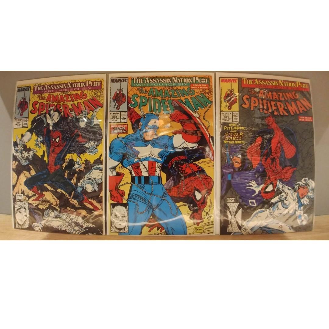 AMAZING SPIDER-MAN # 321, # 322, # 323 3 COMICS TODD MCFARLANE