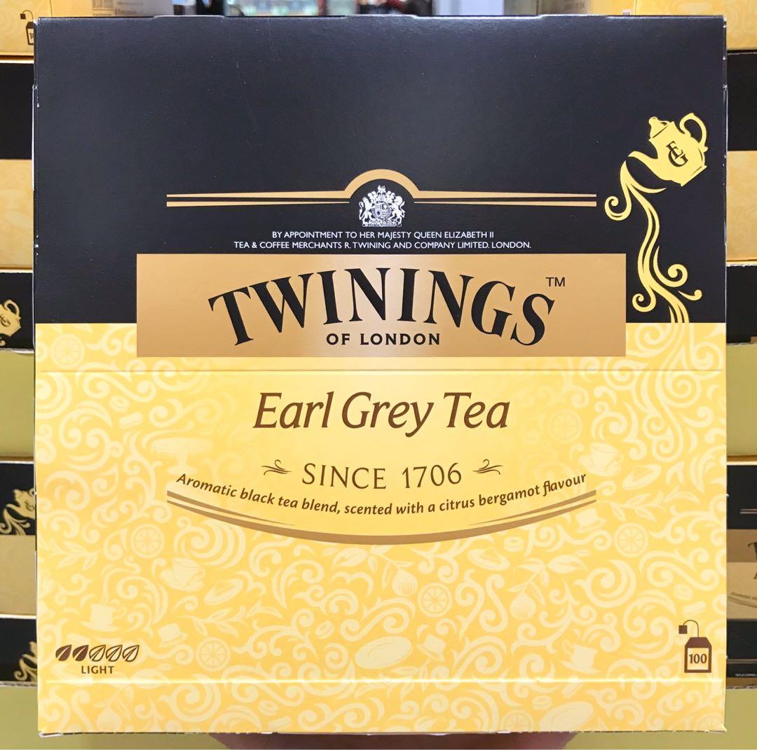 Costco好市多 TWININGS 唐寧 伯爵茶 每包2g x100包  Earl Grey tea 佛手柑芬芳