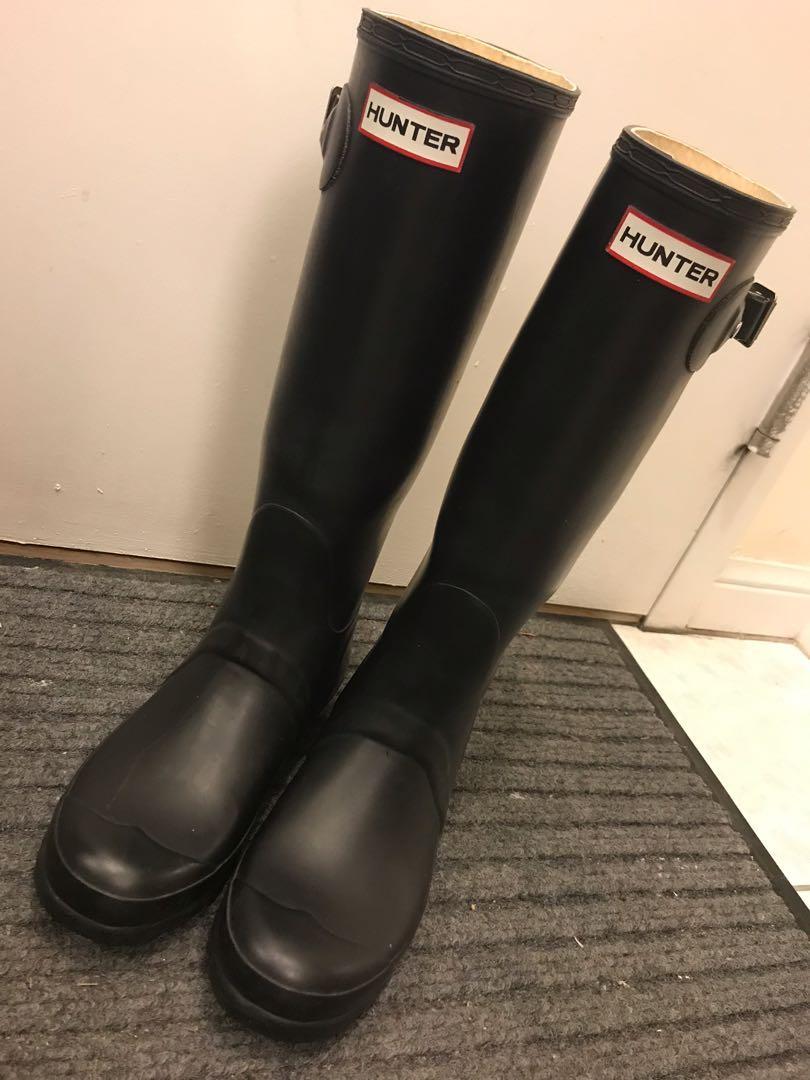 EUC Hunter women original tall boots with fleece boots socks (US 7 / EU 38)