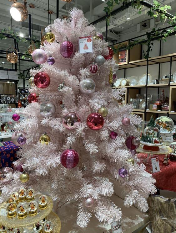 Francfranc 粉紅色聖誕樹 Pink Xmas tree 120cm + 蝴蝶結🎀