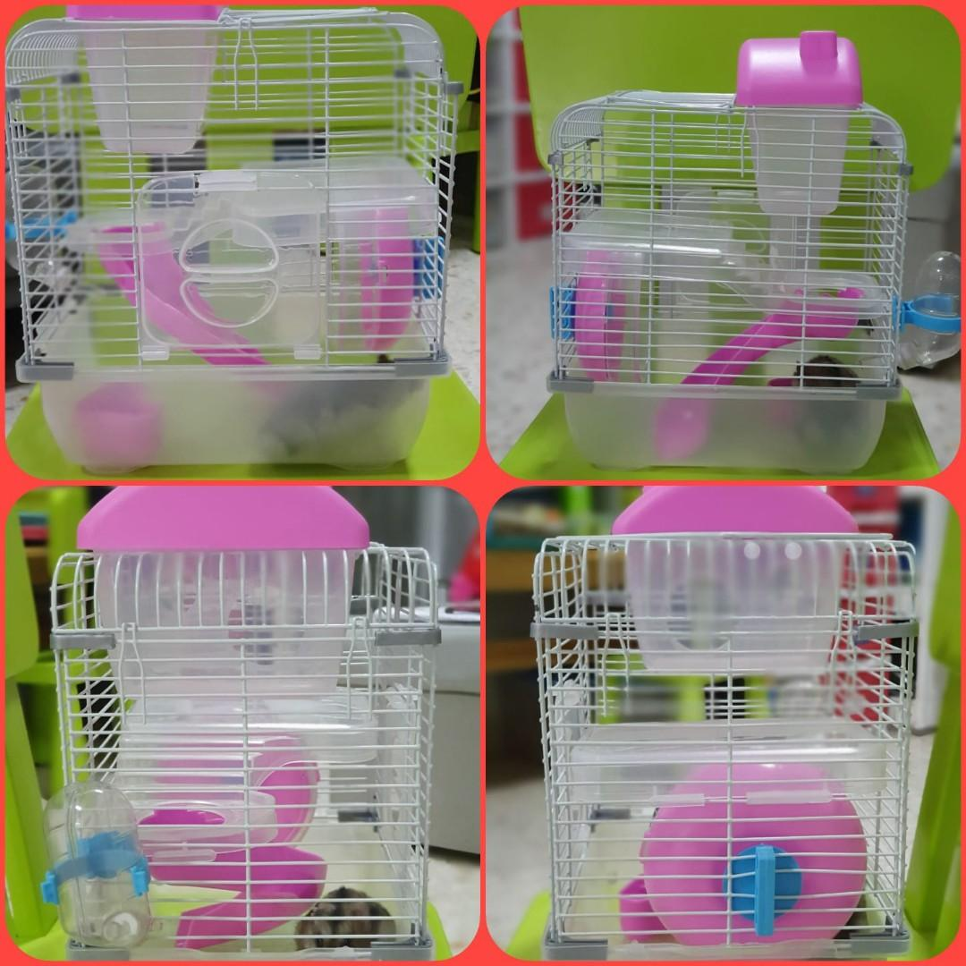 Hamster Cage for short trip outside your house or transport to another location in comfort