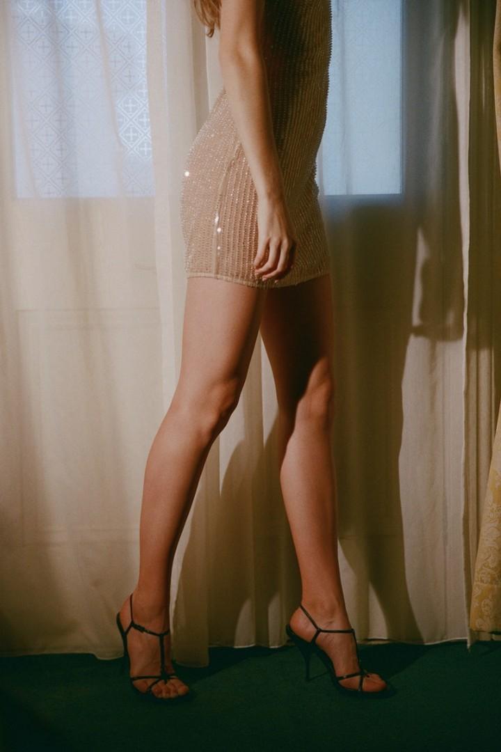Hansen & Gretel Gabi Dress in Nude Sequin - Size L BNWT RRP $319