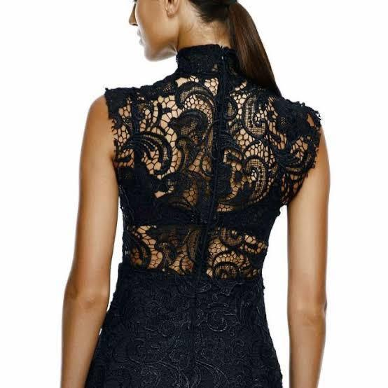 Misha Collection - Alaia Lace Black Dress - size Small
