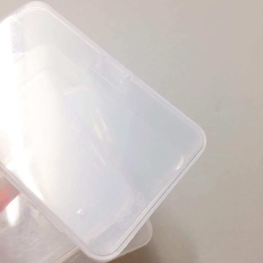 🆓PP塑料盒3個 粉撲盒 牙線棒收納盒