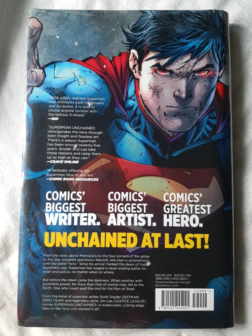 Superman Unchained The New 52 Deluxe Edition by Scott Snyder, Jim Lee, Scott Williams DC COMICS hardbound