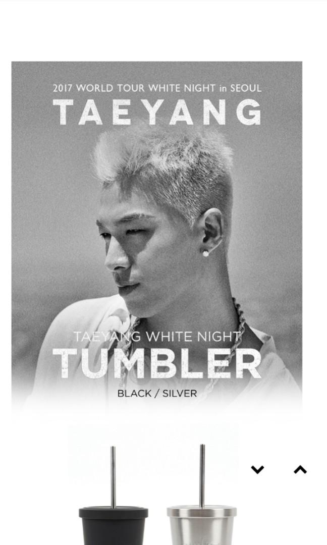 Taeyang White night tumbler (YG YEAR END SALE DISCOUNT)