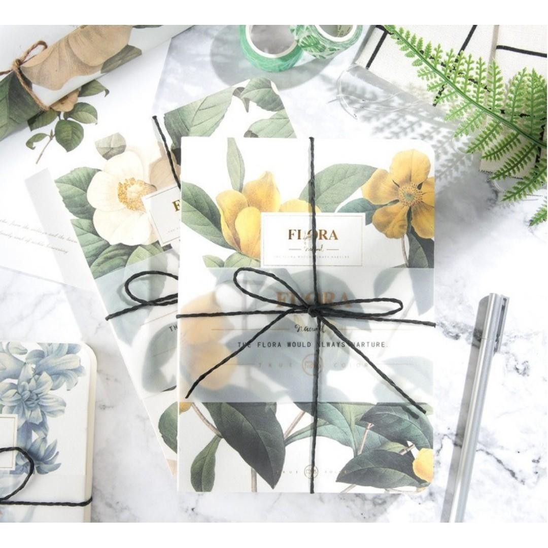 [INSTOCKS] Vintage Flower Flora Plain Hand Book Diary Notebook