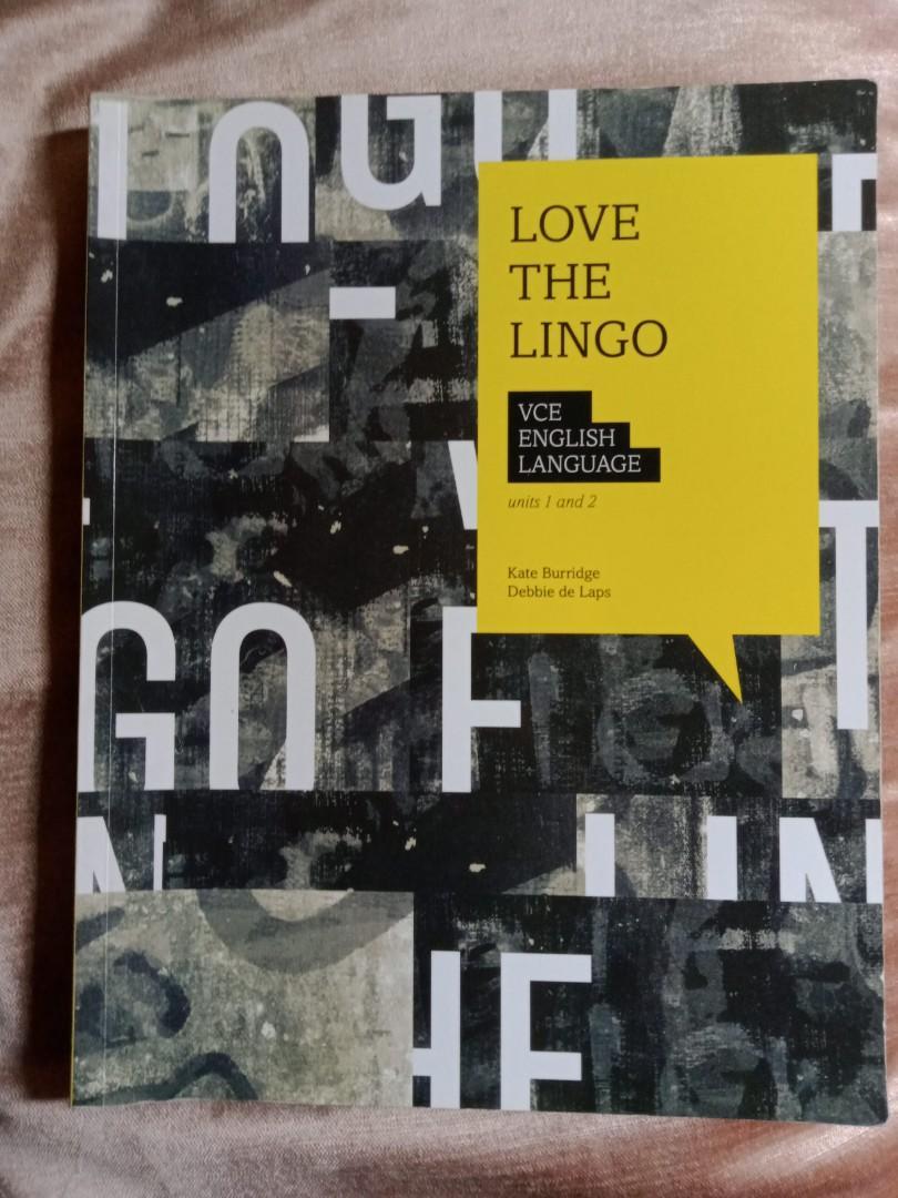 VCE English Language Love the Lingo Units 1/2 Textbook