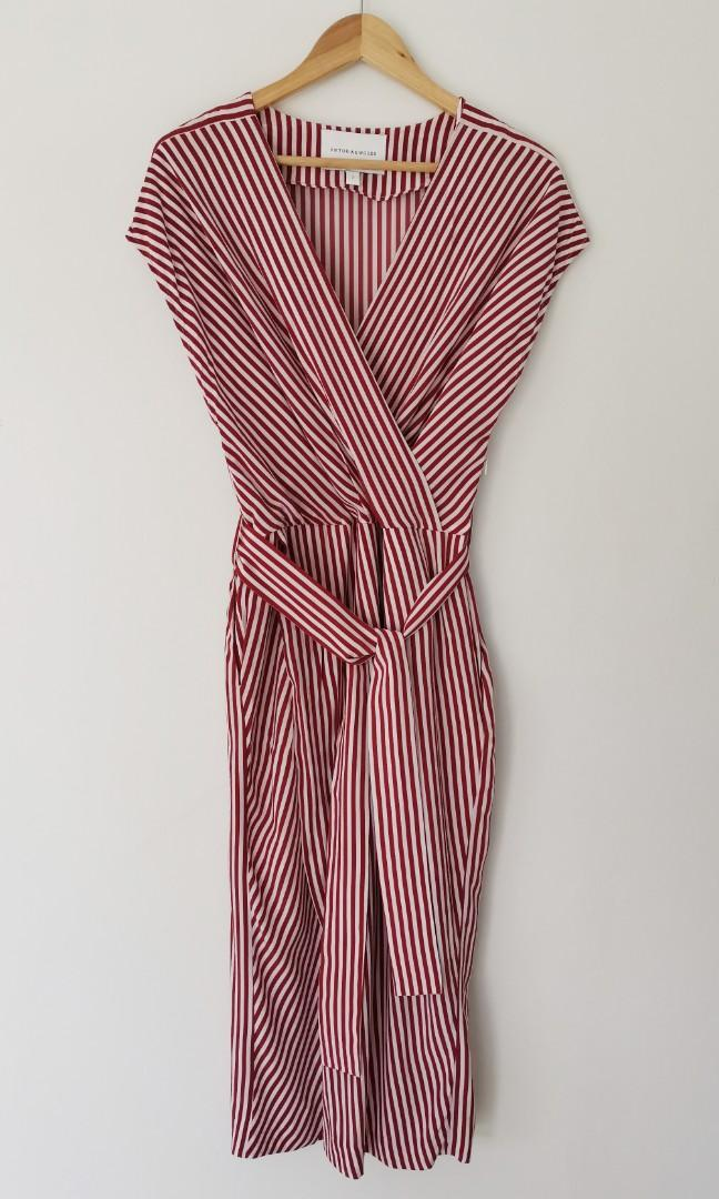 Viktoria Woods Jericho Midi Dress in Hope Stripe - Size 2 RRP $390
