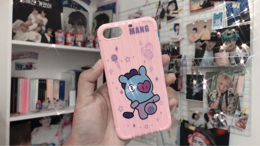 WTS BTS MANG BT21 UNOFFICIAL PHONE CASE IPHONE 7/8