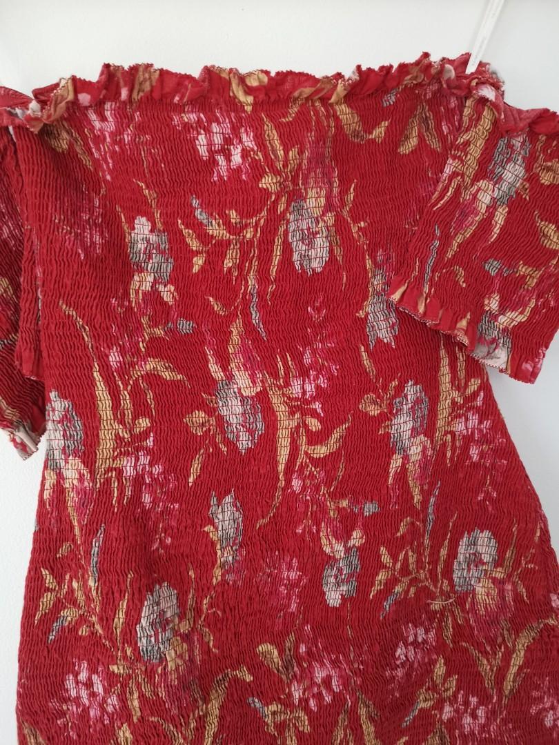 Zimmermann Iris Corsair Shirred Mini Dress - Size 1 RRP $550