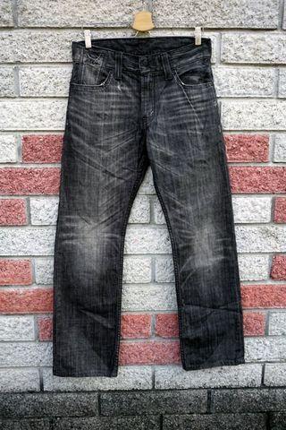 Levis 523 二手牛仔褲- 正品 黑-(levis SQ523-0056)-W32