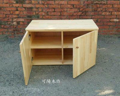 【可陽木作】原木雙門四格櫃 / 玄關櫃 / 鞋櫃 / 矮櫃 / 置物櫃 / 收納架 收納櫃 / 書架 書櫃