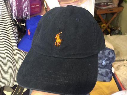 全新 Ralph Lauren PLOL 老帽  深藍橘色馬Logo