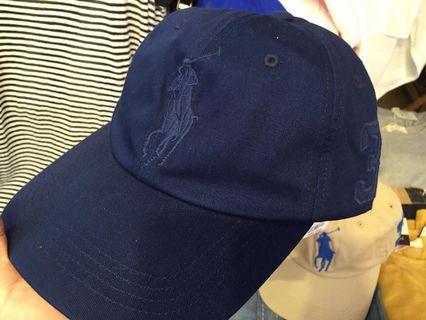 全新 Ralph Lauren PLOL 老帽  藍色大馬Logo