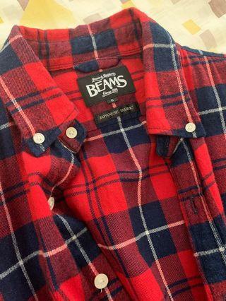 Beams 紅色格紋 法蘭絨 襯衫 filson L.L.Bean 戶外 狩獵 可參考