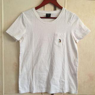 正韓Made in Korea🇰🇷Disney迪士尼米奇刺繡白色T Shirts
