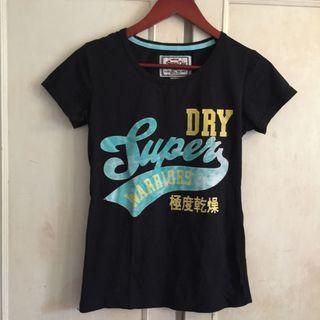Super Dry極度乾燥黑色純棉T shirt