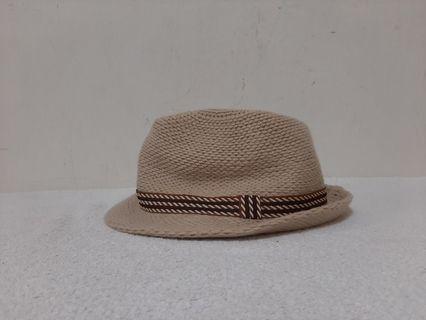 全新~ 台灣製 咖啡色 毛線 爵士帽/紳士帽