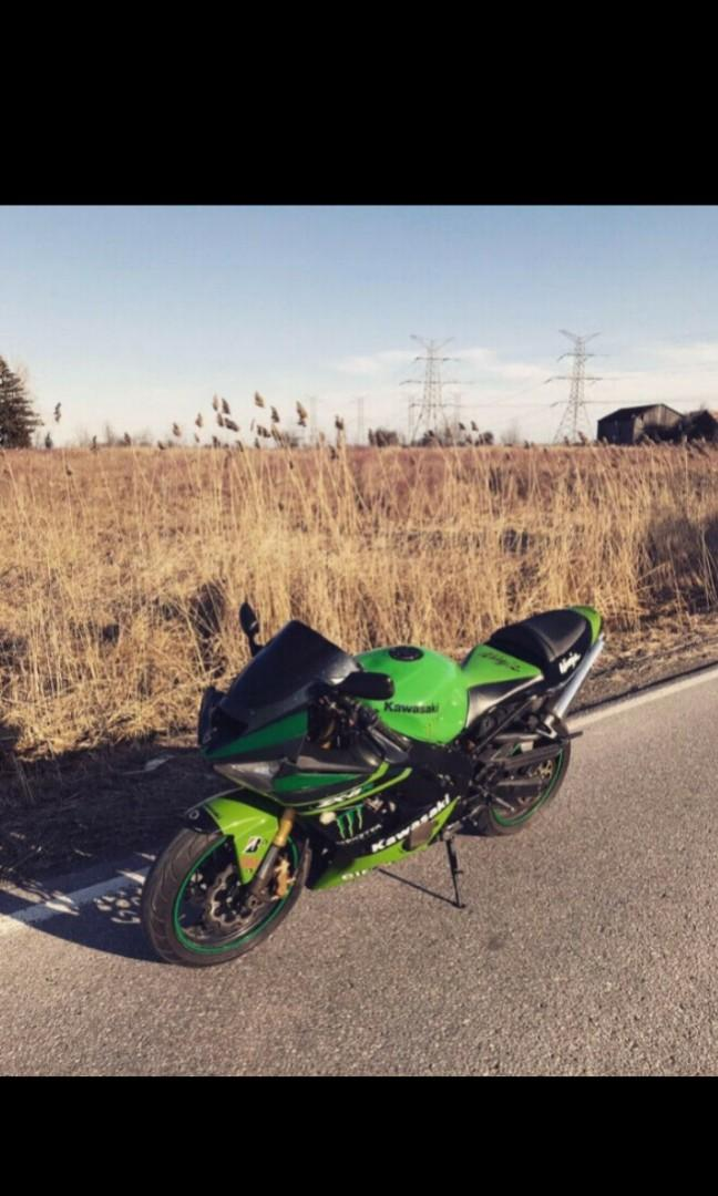 2003 Kawasaki Ninja Monster 636 ZX6R CUSTOM EXHAUST