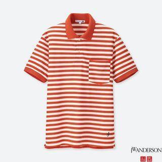 UNIQLO x JW ANDERSON 橘色 條紋 POLO衫