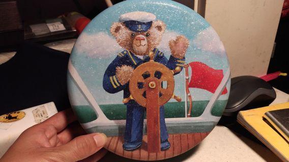 珍妮曲奇聰明小熊餅乾盒收納