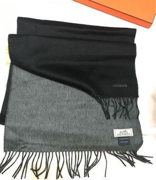 愛馬仕雙色圍巾 Hermes